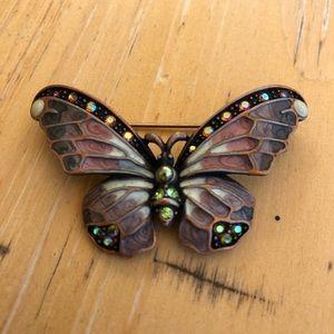 Joan Rivera butterfly brooch
